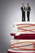 Groom Figurines on Wedding Cake