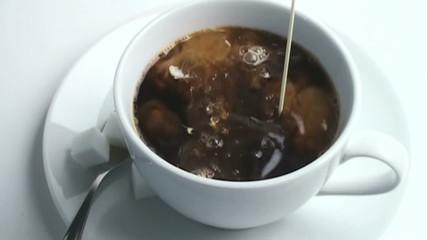 1080 Slow motion coffee cream drops