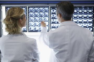 Two Doctors Examining X-rays