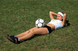 Soccer blondie girl