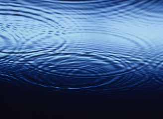 Ripples overlapping on Water, close-up