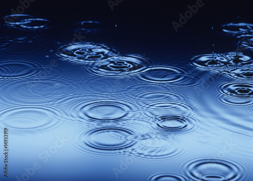 Water drops splashing, making Ripples on Water
