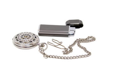 Elegant Pocket watch and lighter