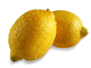 lemons  yellow  isolated