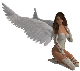 Angel With Brunette Hair