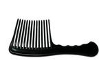 stylish black hairbrush isolated on white background poster