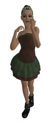 Brunette Ballerina