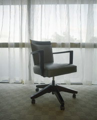 Office Chair in Front of Window