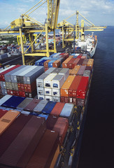 Cargo Containers at Freight Terminal