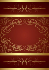 Vintage Floral Frame Background