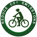Reduce Carbon Emissions Pushbike poster