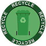 Recycling Logo Wheelie Bin