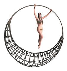 Woman Hang On