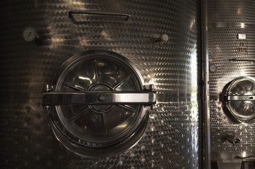 Wine vats, close-up