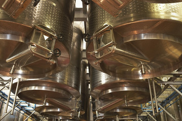 Wine vats, low angle view