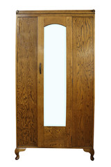 Antique Wardrobe isolated with clipping path.
