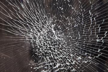 broken window of car