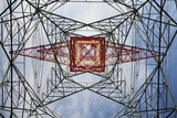 Electricity pylon, view from below