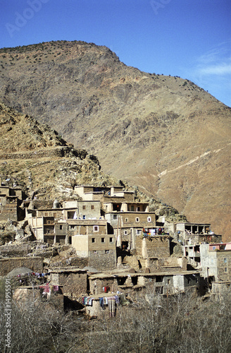 Cluster of buildings on mountainous slope