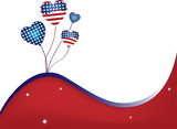 USA Balloons and Stars Background Fourth of July poster
