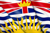 Flag of British Columbia (Canada) poster