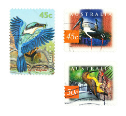 Birds stamps from Australia