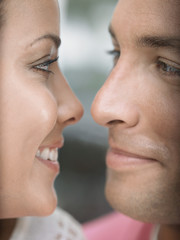 Young Couple Face to Face