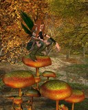 Woodland Sprite in an Autumn Forest - 2 poster