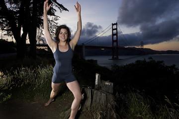 Happy Woman in San Francisco