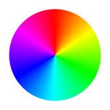 Color Spectrum Wheel (Vector) poster