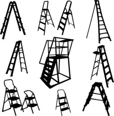 ladders collection - vector
