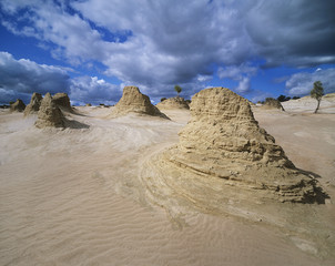 Rock formations in desert