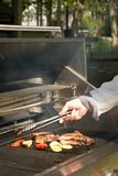 preparing barbecue poster