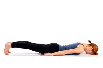 Fit Slim Woman Practising Yoga