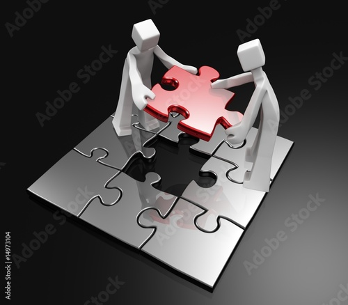 Teamwork to success concept dark background