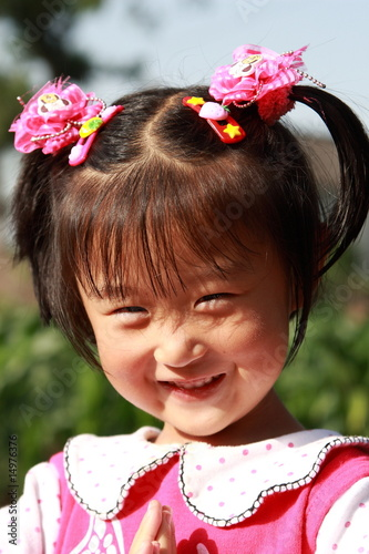 happy Chinese little girl