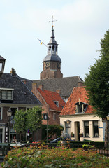 Blokzijl – picturesque small houses. Netherlands