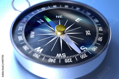 Leinwandbild Motiv Kompass
