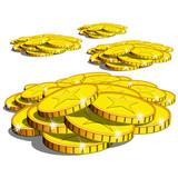Monete-Coins Cash-Monedas poster