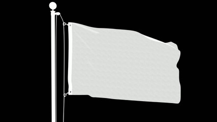 Isolated Qatari Flag on a Flagpole