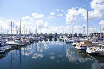 Luxury yachts in Flensburg, Germany