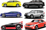 Fototapety Vector. prestigious sports and offroad cars