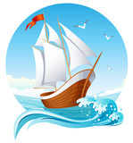 sailing ship poster