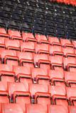 Spectators seats at a stadium poster