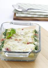 Cannelloni gefüllt mit Gemüse