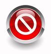 ''Access denied'' glossy icon