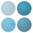Set Of Vector Blue Spheres