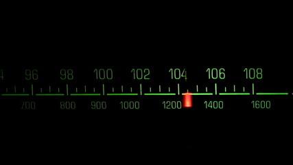 Classic radio receiver fm tune dial panel