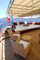 lounge of luxury sailboat