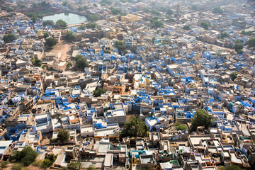 View of Jodhpur, the blue city.